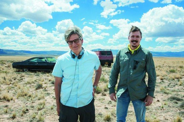 Peter Gould y VInce Gilligan en el rodaje de 'Better Call saul'